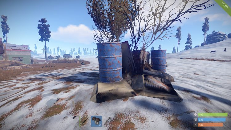 Blue Barrel, one of the best loot locations in Rust