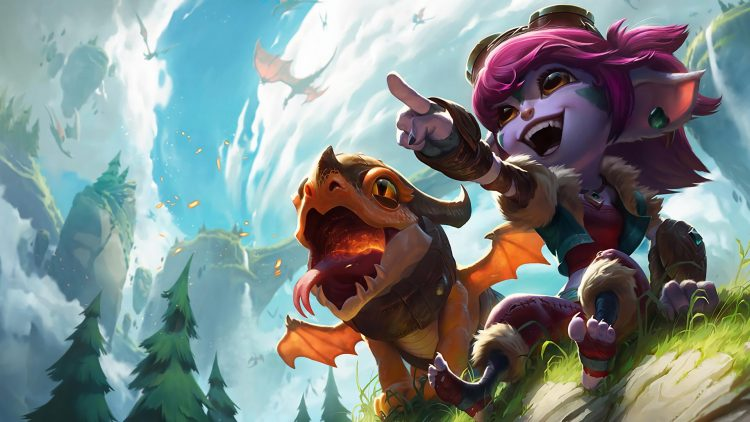 Dragon Trainer Tristana, one of the best splash arts in League of Legend history
