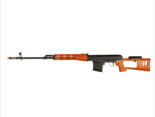 Dragunov model airsoft sniper rifle, one of the best available for the price