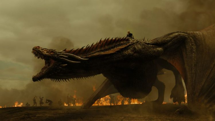 Drogon, one the biggest dragons ever seen or heard of in Game of Thrones