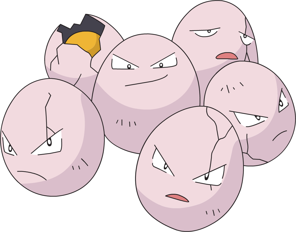 Exeggcute, one of the most bizarre Pokemon