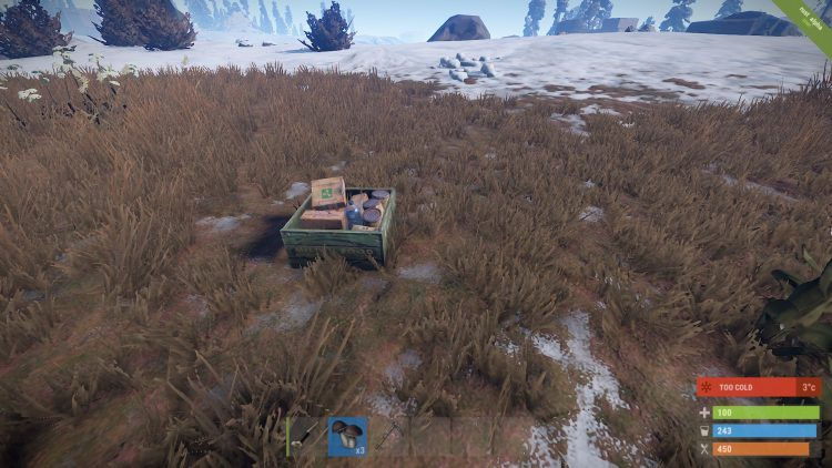 Food Crate, one of the best loot locations in Rust