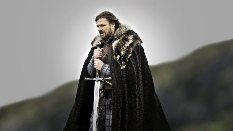 Ice, the ancestral valyrian steel sword of House Stark