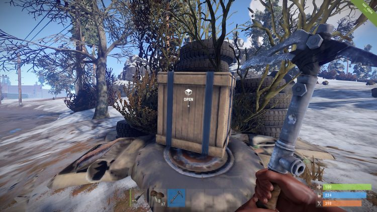 Loot Crate, one of the best loot locations in Rust