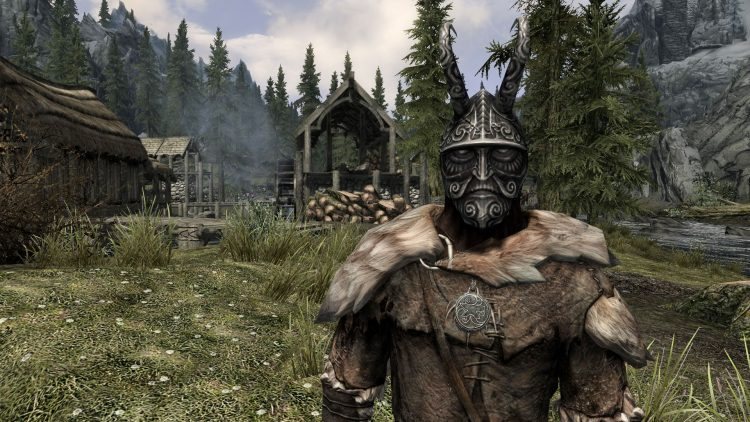 Masque of Clavicus Vile, the 8th best heavy armor helmet in Skyrim
