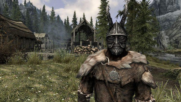Masque of Clavicus Vile, the 8th best heavy armor helmet in Skyrim