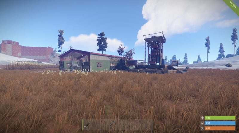 Monument, one of the best loot locations in Rust