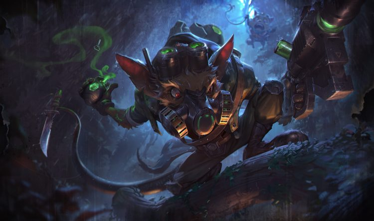 Omega Squad Twitch, one of the best splash arts in League of Legend history