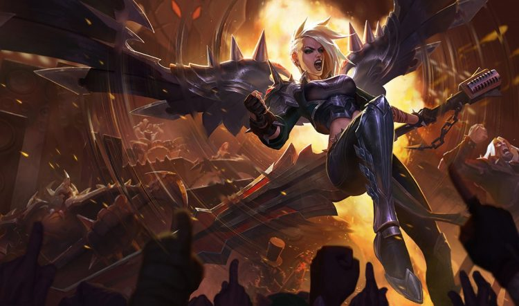 Pentakill Kayle, one of the best splash arts in League of Legend history
