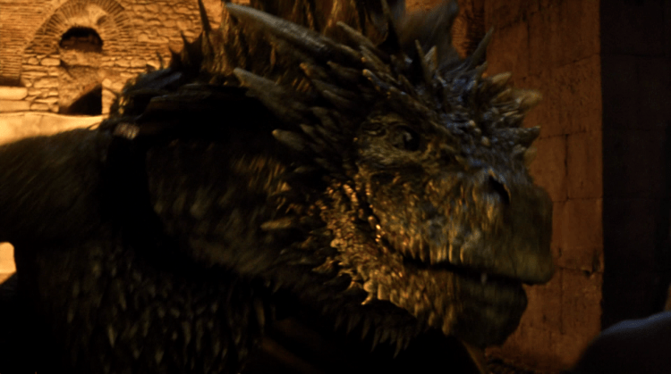 Rhaegal, one the biggest dragons ever seen or heard of in Game of Thrones