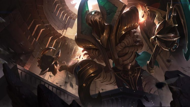 Risen Fiddlesticks, one of the best splash arts in League of Legend history