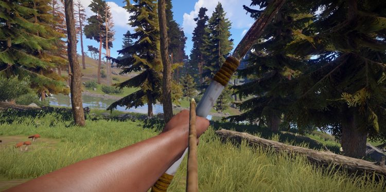 Hunting Bow, one of the best guns in Rust