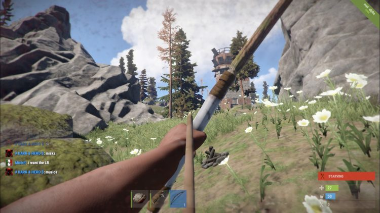 Hunting Bow, the 9th best weapon in Rust