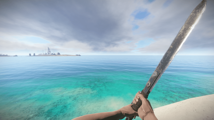 The Longsword, this is the best melee weapon in Rust