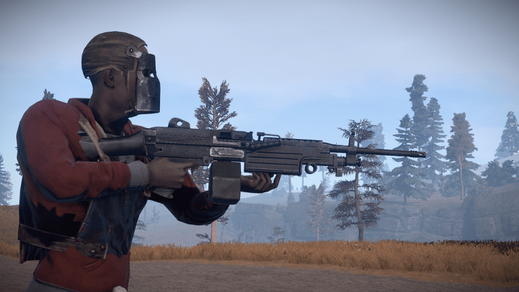 M249, the 3rd best weapon in Rust