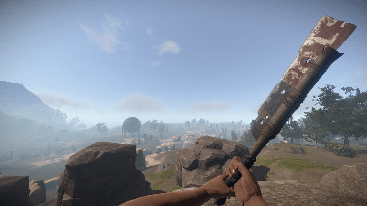 The Salvaged Cleaver, the 3rd best melee weapon in Rust