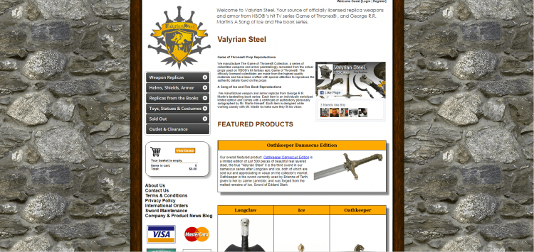 You can purchase your own valyrian steel lookalike from this website