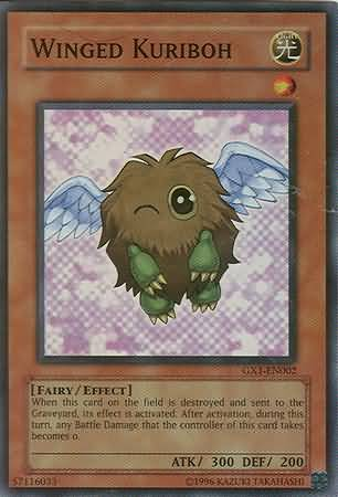 Winged Kuriboh, one of the cutest Yugioh cards