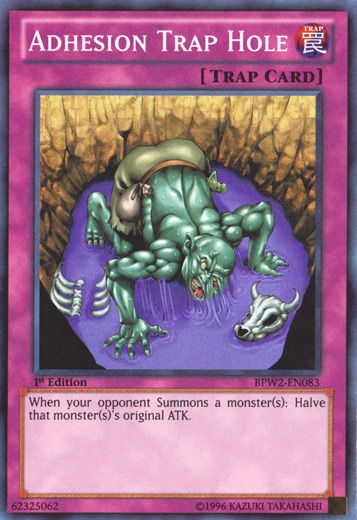 Adhesion Trap Hole, one of the best trap hole cards in Yugioh