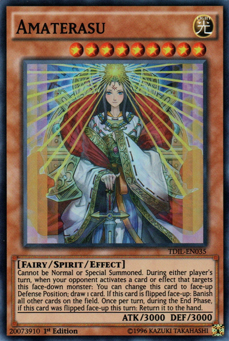 Amaterasu, one of the best spirit monsters in Yugioh