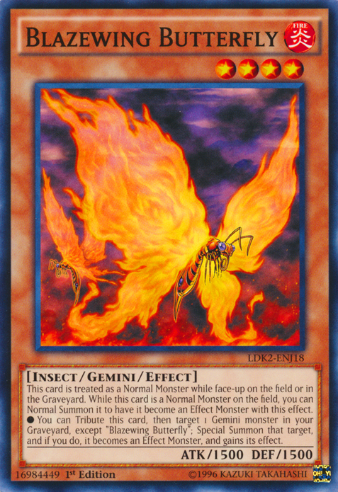 Blazewing Butterfly, one of the best gemini monsters in Yugioh