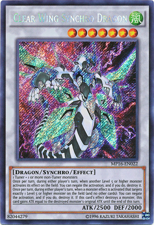 Clear Wing Synchro Dragon, one of the best synchro monsters in Yugioh