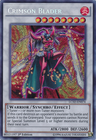 Crimson Blader, one of the best synchro monsters in Yugioh