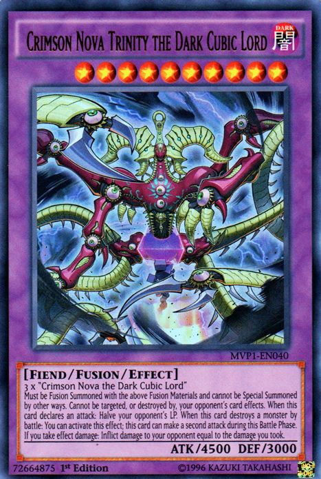 Crimson Nova Trinity the Dark Cubic Lord, the most powerful monster in Yugioh
