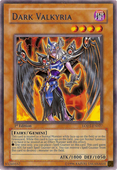 Dark Valkyria, one of the best gemini monsters in Yugioh