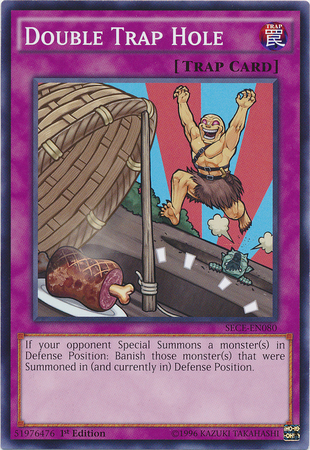 Double Trap Hole, one of the best trap hole cards in Yugioh