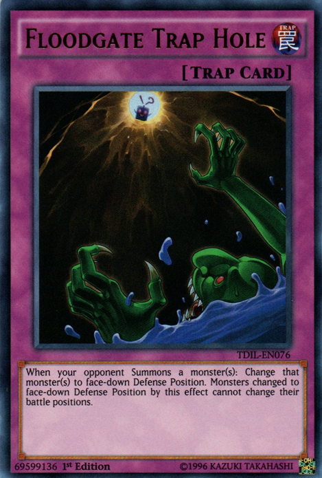 Floodgate Trap Hole, one of the best trap hole cards in Yugioh