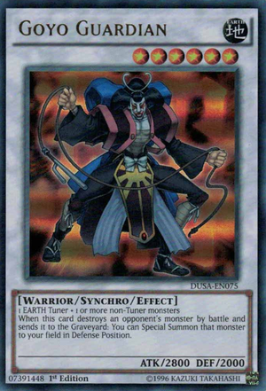 Goyo Guardian, one of the best synchro monsters in Yugioh