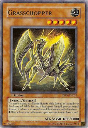 Grasschopper, one of the best gemini monsters in Yugioh
