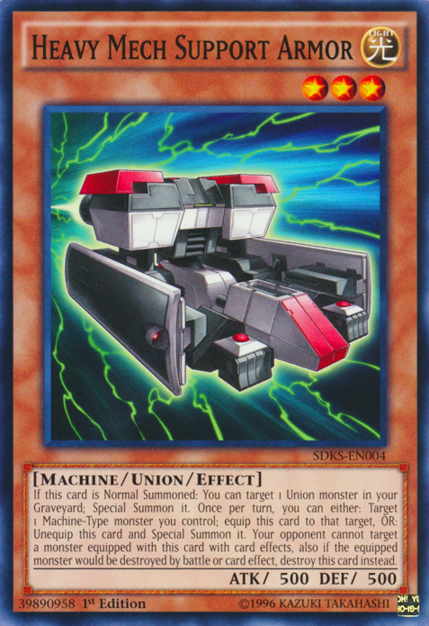 Heavy Mech Support Armor, one of the best union monsters in Yugioh
