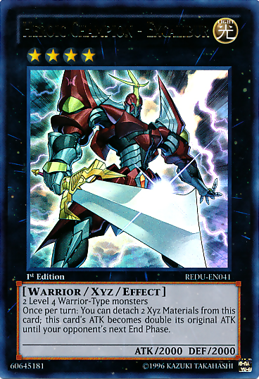 Heroic Champion Excalibur, one of the best Rank 4 XYZ Yugioh monsters