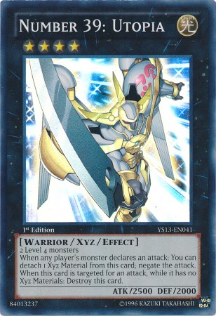 Number 39: Utopia, one of the best Rank 4 XYZ Monsters in Yugioh