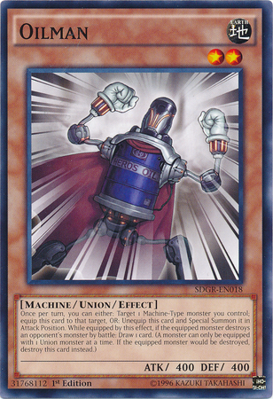 Oilman, one of the best union monsters in Yugioh