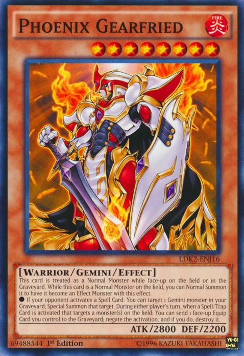 Phoenix Gearfried, the best gemini monster in Yugioh