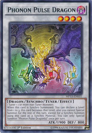 Phonon Pulse Dragon, one of the best tuner monsters in Yugioh
