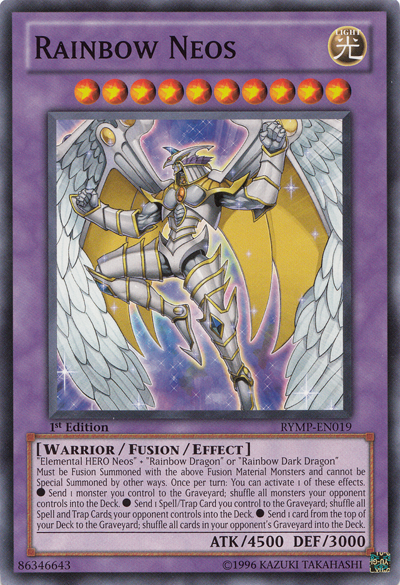 Rainbow Neos, one of the most powerful Yugioh monsters