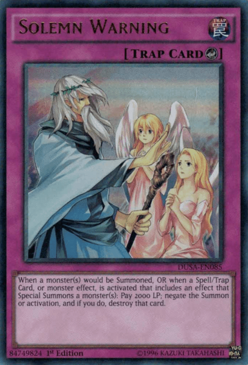 Solemn Warning, the best counter trap card in Yugioh