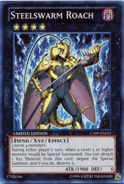 Steelswarm Roach, one of the best Rank 4 XYZ Yugioh monsters
