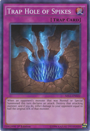 Trap Hole of Spikes, one of the best trap hole cards in Yugioh