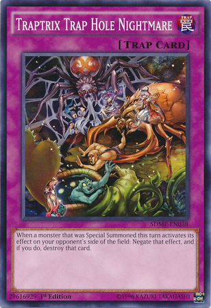 Traptrix Trap Hole Nightmare, one of the best trap hole cards in Yugioh