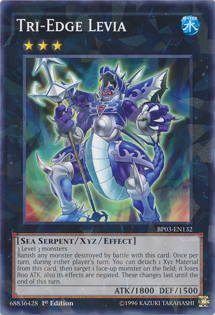 Tri-Edge Levia, one of the best water attribute monsters in Yugioh