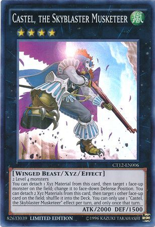 Castel the Skyblaster Musketeer, one of the best Rank 4 XYZ Yugioh monsters