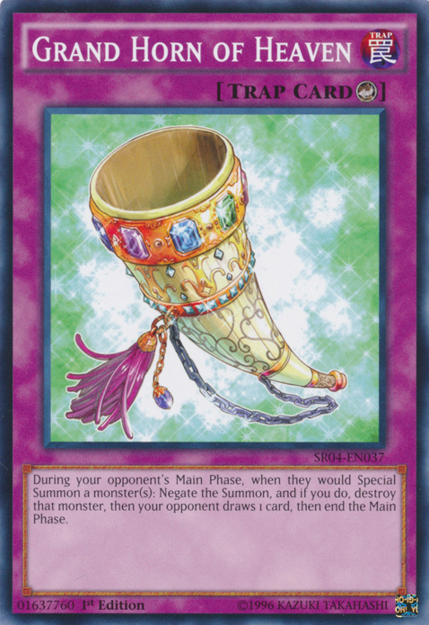 Grand Horn of Heaven, one of the best counter trap cards in Yugioh