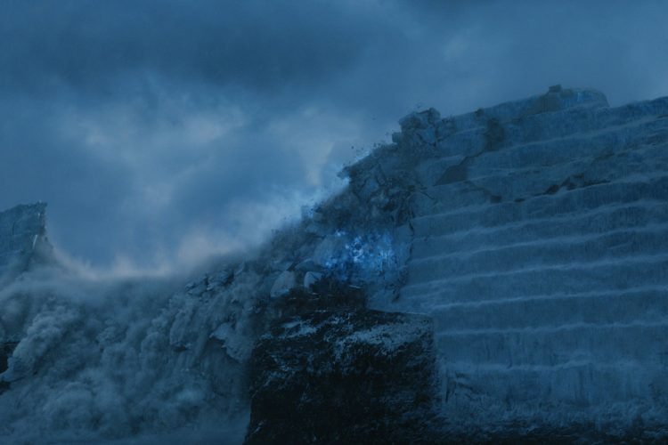 The wall fell in season 7, arguably the biggest moment of the entire story
