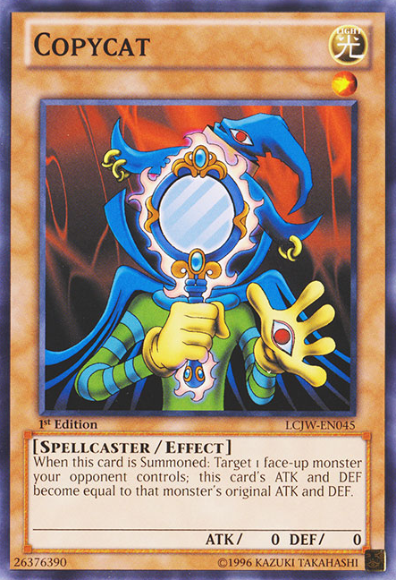 Copycat, one of the best level 1 monsters in Yugioh