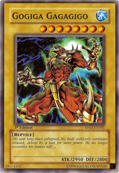 Gogiga Gagagigo, one of the best normal monsters in Yugioh
